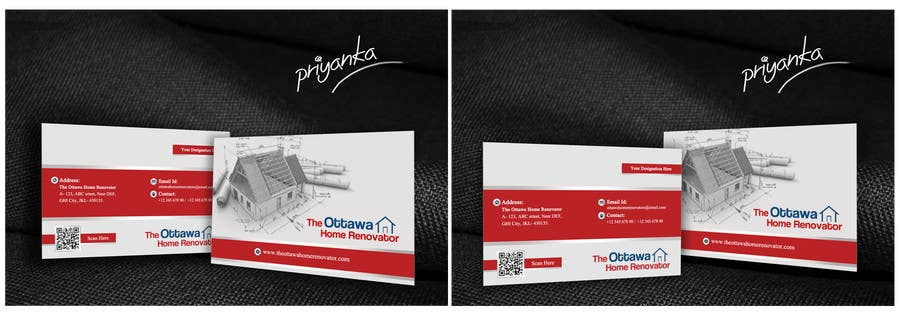 #57 for Design some Business Cards for The Ottawa Home Renovator by priyanka602