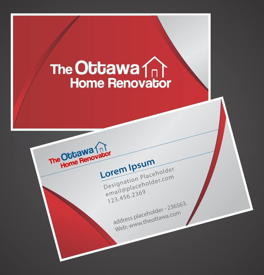 #24 for Design some Business Cards for The Ottawa Home Renovator by sujayraj