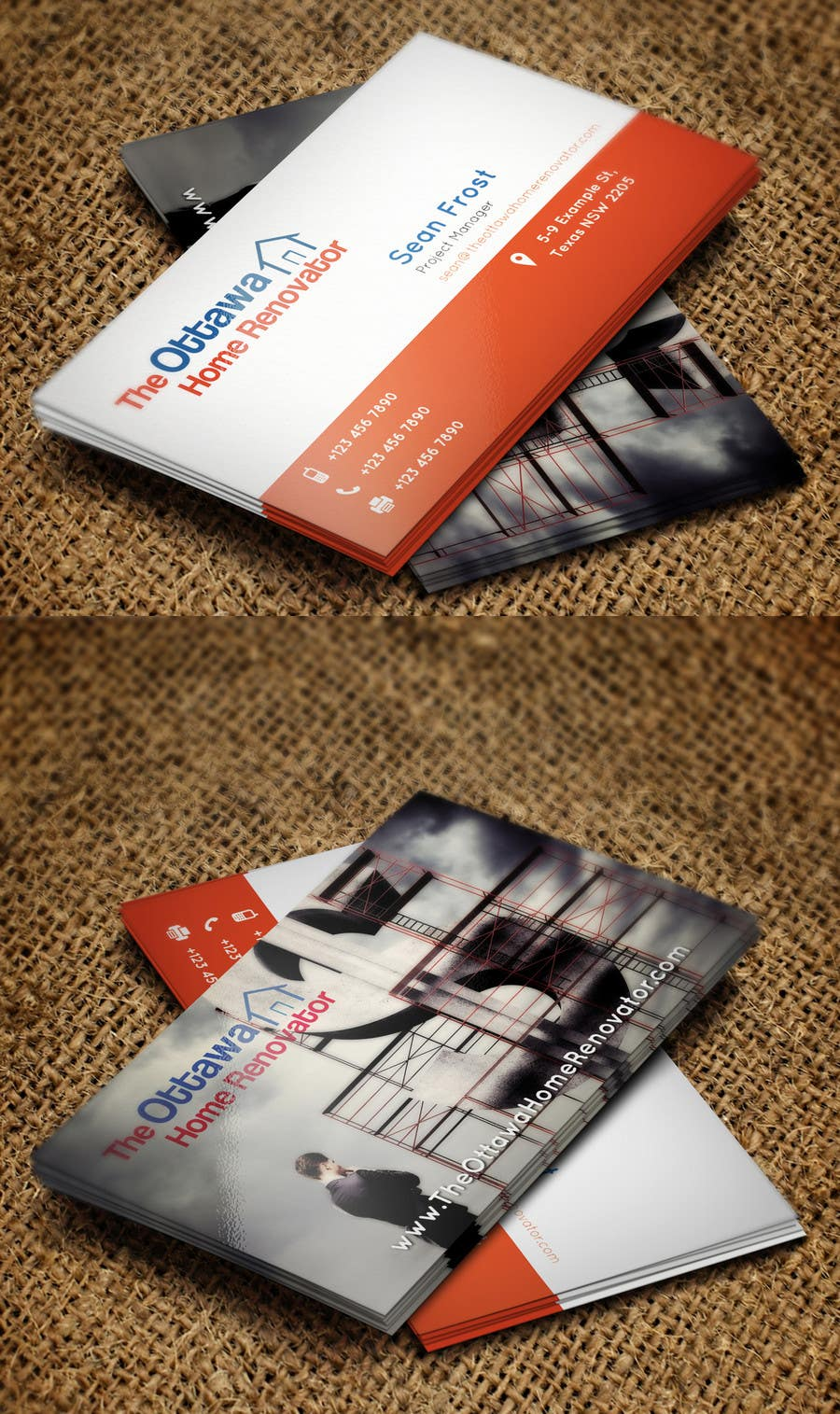 #30 for Design some Business Cards for The Ottawa Home Renovator by Zeshu2011