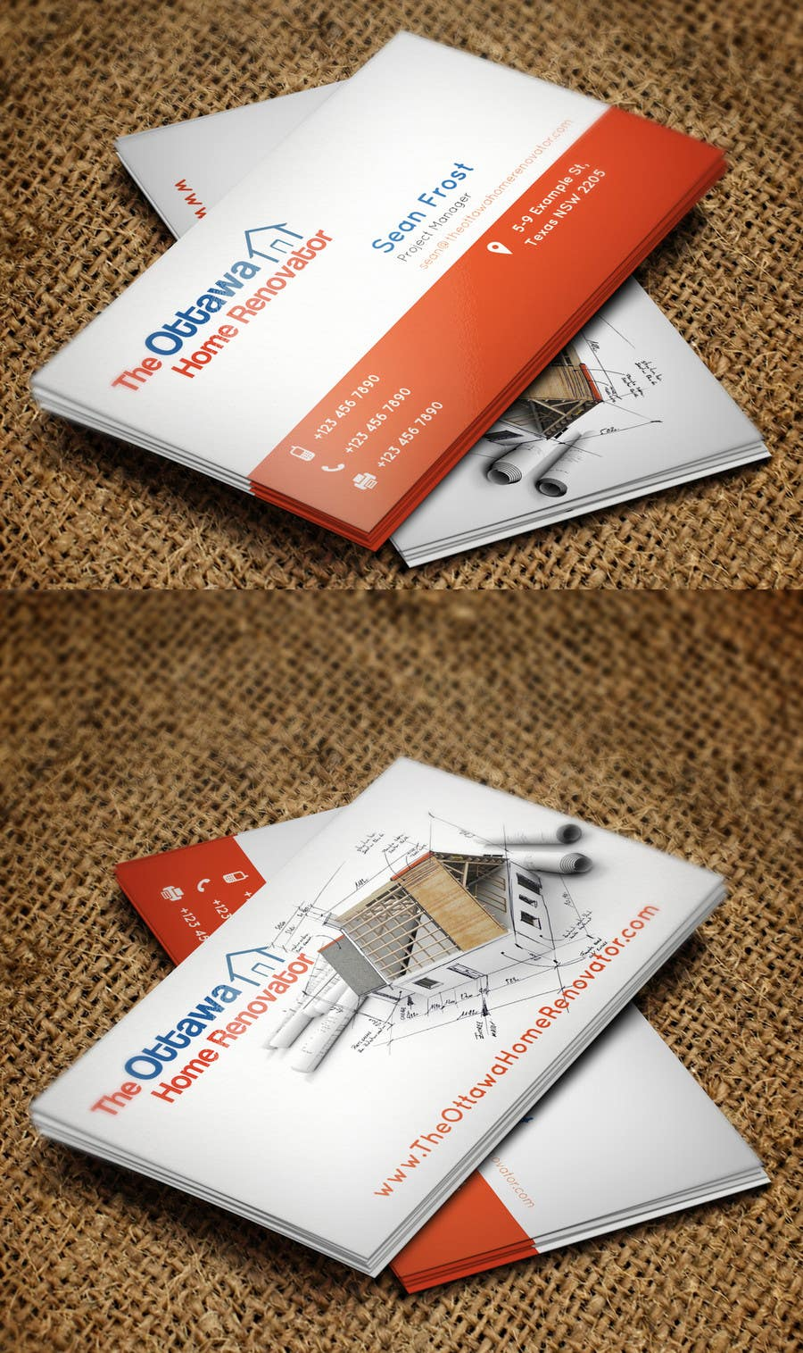#45 for Design some Business Cards for The Ottawa Home Renovator by Zeshu2011