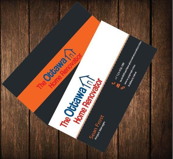 #43 for Design some Business Cards for The Ottawa Home Renovator by aashishnagpal