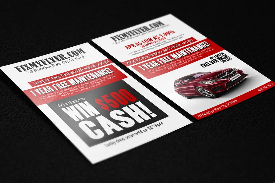 #9 for Design a Flyer for Local Car Dealership by umerr2000
