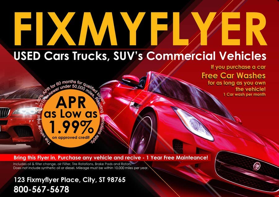 #31 for Design a Flyer for Local Car Dealership by Sahir75