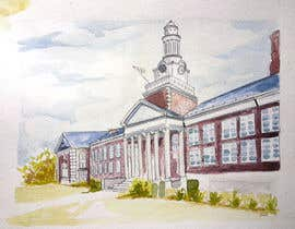 wahala tarafından Draw Colored Sketch The College of New Jersey Green Hall For Diploma Frame için no 14