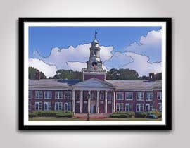 TEHNORIENT tarafından Draw Colored Sketch The College of New Jersey Green Hall For Diploma Frame için no 27