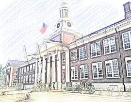 Henish816 tarafından Draw Colored Sketch The College of New Jersey Green Hall For Diploma Frame için no 1