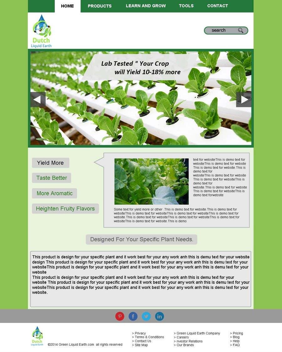 Penyertaan Peraduan #13 untuk Design a Website Mockup for Hydroponic plant food