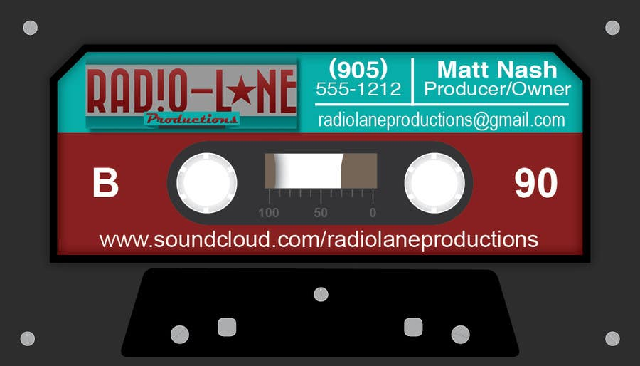 #8 for Design Business Cards for Radio Lane Productions by edwait