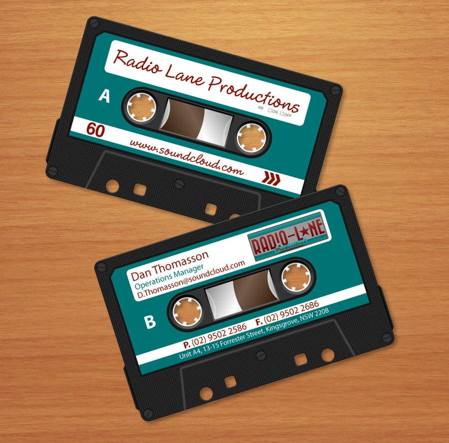 #7 for Design Business Cards for Radio Lane Productions by midget