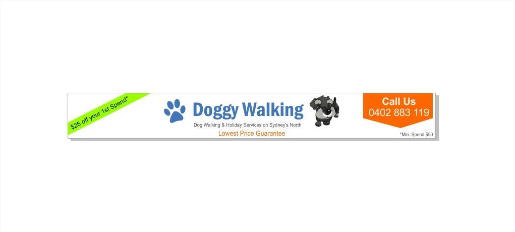 #13 for Design a Static Leaderboard Banner for Dog Walking Business by poojark
