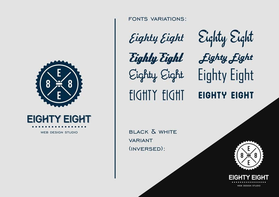 #92 for Design a Logo for EightyEight - Web design studio by Lexik