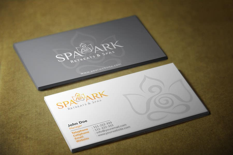 #52 for Design some Business Cards for Spa and Retreat Travel Agency by HammyHS