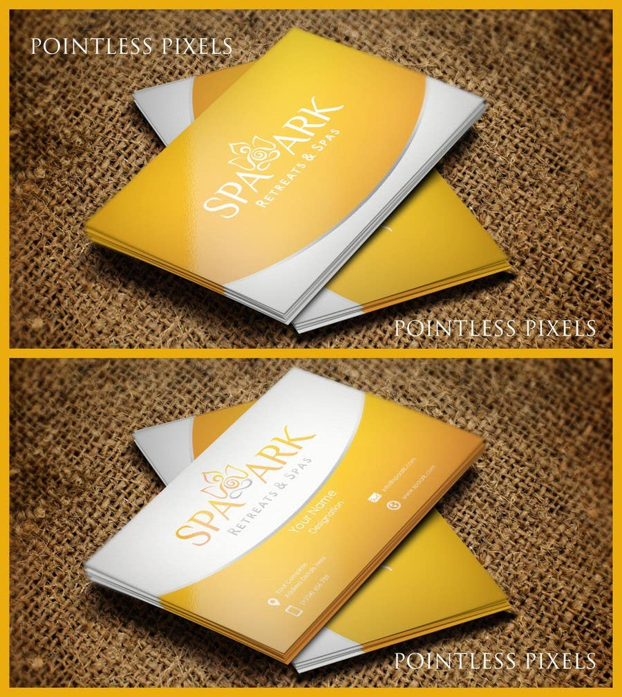 #36 for Design some Business Cards for Spa and Retreat Travel Agency by pointlesspixels