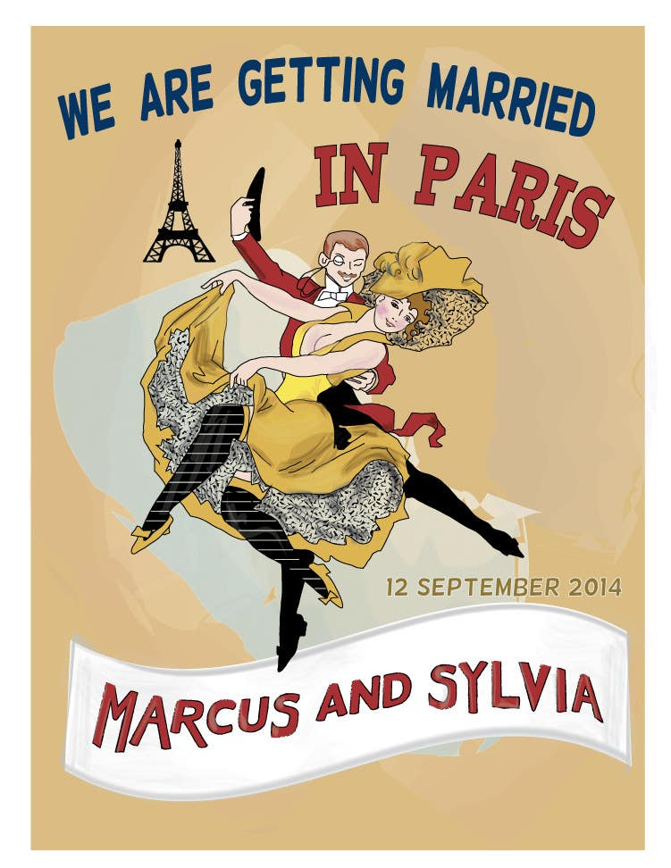 #19 for Design a Poster/Invitation for a Wedding Ceremony by giulia65