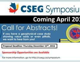 sellakh32 tarafından Design an Ad Logo for the 2017 CSEG Symposium için no 24