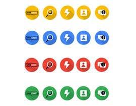 tanveerk0956 tarafından Review 6 icons and change colors için no 19