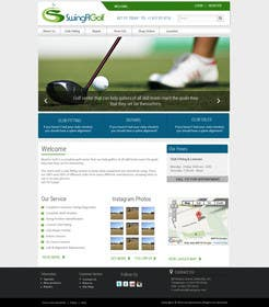 #9 para Design a Website Mockup for swingR golf por kreativeminds