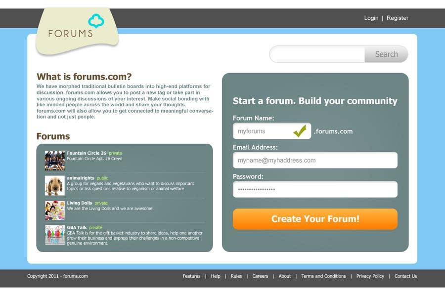 Contest Entry #                                        7                                      for                                         Website Design for Forums.com
