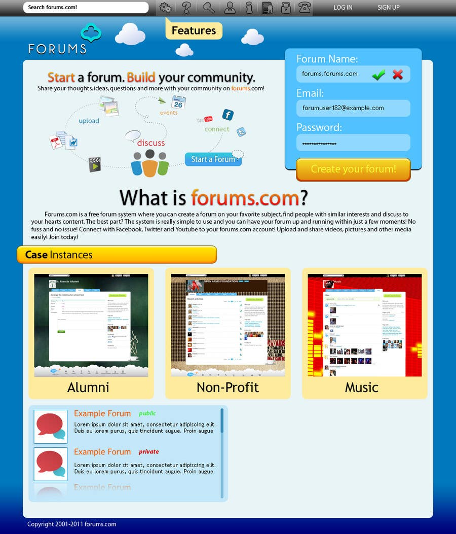 Contest Entry #4 for Website Design for Forums.com