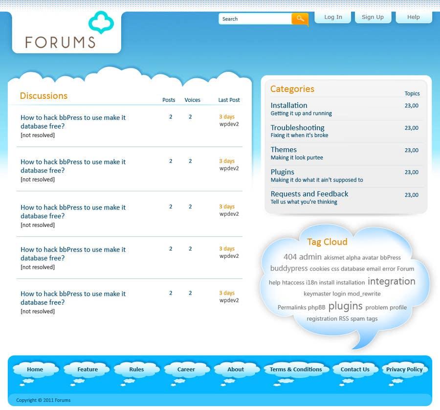 Participación en el concurso Nro.                                        36                                      para                                         Website Design for Forums.com
