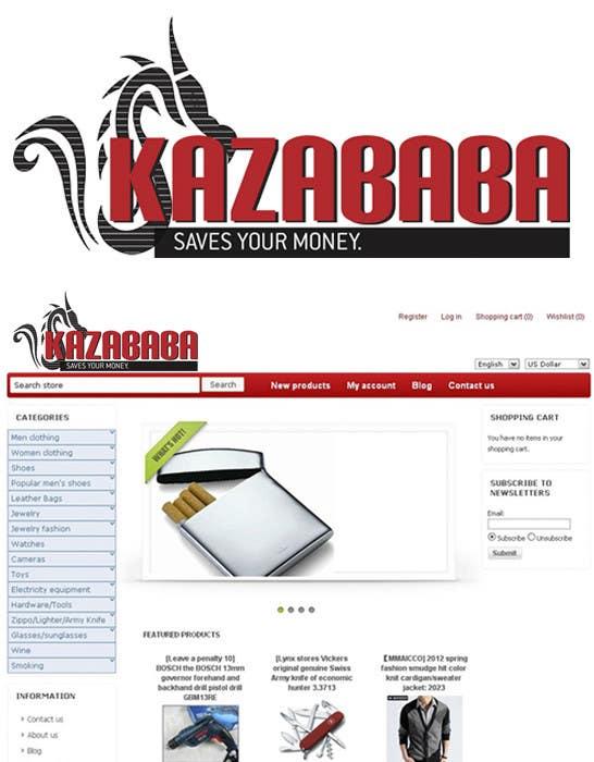 Konkurrenceindlæg #                                        139                                      for                                         Logo Design for kazababa