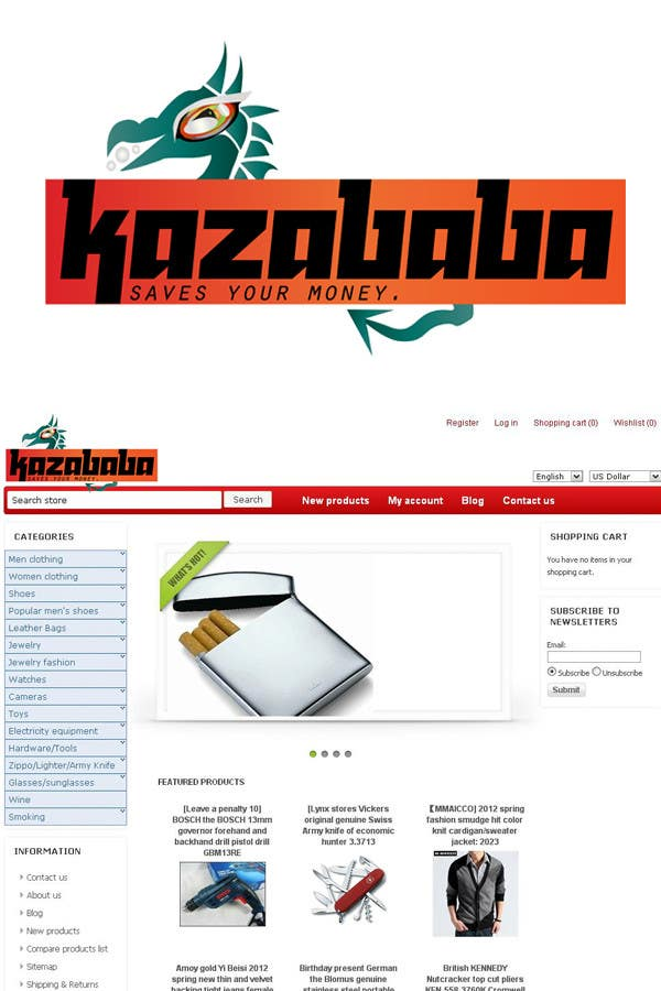 Proposition n°                                        171                                      du concours                                         Logo Design for kazababa