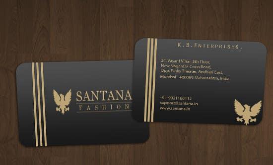 Penyertaan Peraduan #                                        3                                      untuk                                         Business Card & Letter Head Designing for Santana Fashion