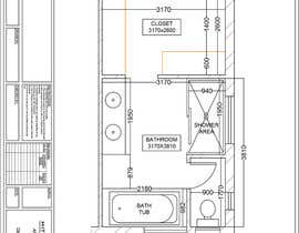 hiteshreddy1992 tarafından Design a bathroom layout için no 3