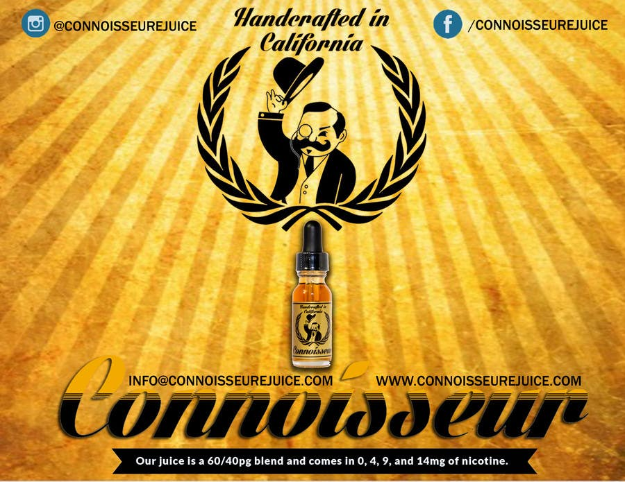 Bài tham dự cuộc thi #3 cho Poster Design for Connoisseur eJuice