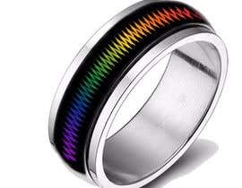 #12 for Create a Rainbow EKG/wave Spinner Ring by kosevech