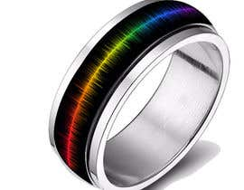 #20 for Create a Rainbow EKG/wave Spinner Ring by kosevech