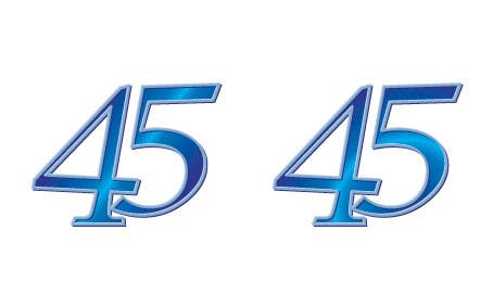 Konkurrenceindlæg #14 for Logo design for the 45th anniversary banquet