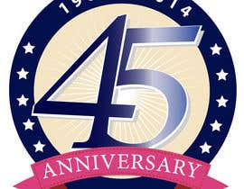 #16 para Logo design for the 45th anniversary banquet por graphicain