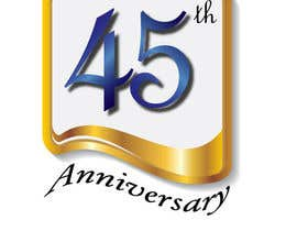 #25 para Logo design for the 45th anniversary banquet por lovelyanns