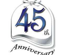 #26 para Logo design for the 45th anniversary banquet por lovelyanns