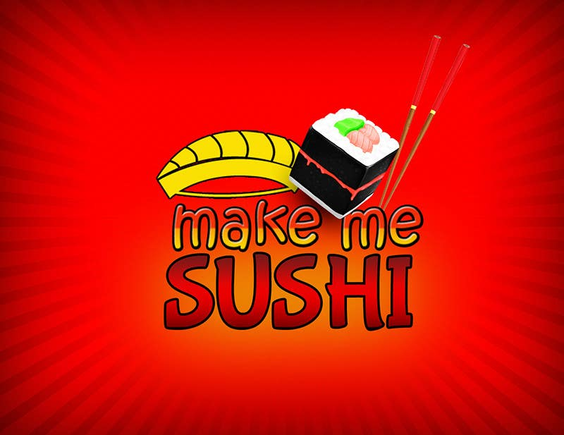 "Contest Entry #37 for Design a Logo for 'MAKE ME SUSHI"" - repost"