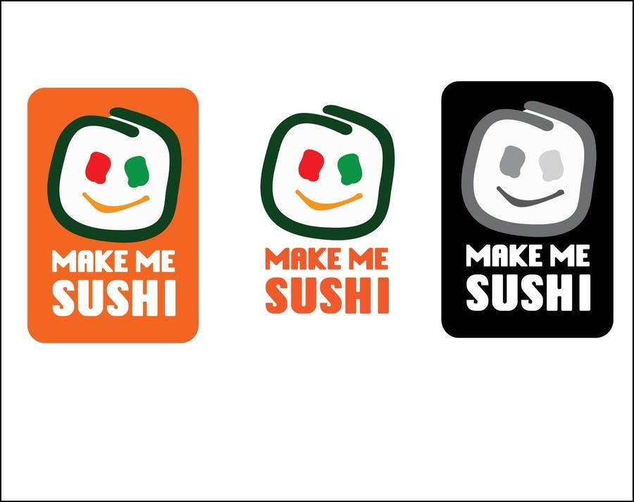 "Contest Entry #40 for Design a Logo for 'MAKE ME SUSHI"" - repost"