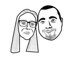 #14 for Cartoonize Two Faces (B/W, Vector Graphic, Low Detail) by tomislavludvig