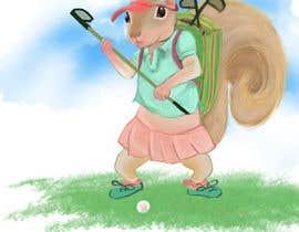 designoarte tarafından Teenage Golfing Female Squirrel için no 6