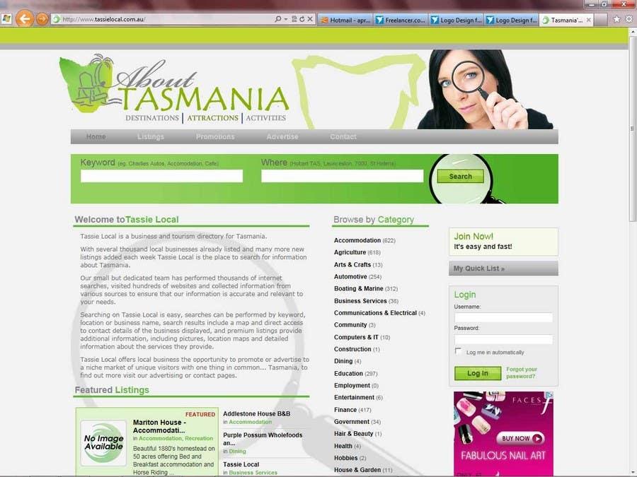 Kilpailutyö #                                        50                                      kilpailussa                                         Logo Design for About Tasmania