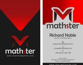 #18 untuk Design some Business Cards for Mathster.com oleh Iddisurz