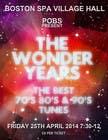 Graphic Design Inscrição do Concurso Nº39 para Design a Flyer for The Wonder Years