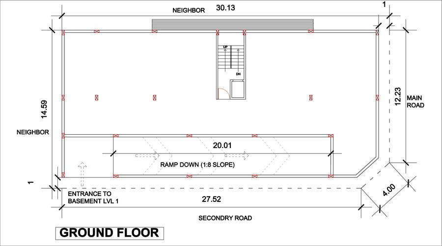 Entry 19 by megha3007 for basment parking floor plan for Basement entry floor plans