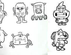 nº 16 pour Funny Monster Robot Illustrations Wanted par HappyFactory