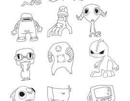 nº 21 pour Funny Monster Robot Illustrations Wanted par nanuniman13