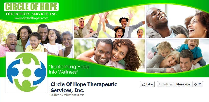 Proposition n°48 du concours Design a Facebook landing page for Circle of Hope Therapeutic Services, Inc.