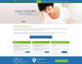 Nro 4 kilpailuun Design a Website Mockup for а Headache Center - Improve Current Design käyttäjältä atularora