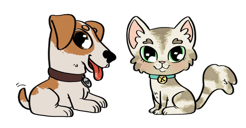 Proposition n°3 du concours Concept art for a virtual pet game: kitten and puppy