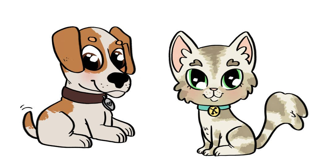Proposition n°5 du concours Concept art for a virtual pet game: kitten and puppy