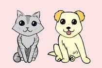 Proposition n° 21 du concours Graphic Design pour Concept art for a virtual pet game: kitten and puppy